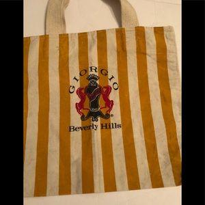 Handbags - Vintage Georgio Perfume Bottle striped handbag